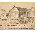 Saint Francis of Assisi Church, Vallejo Street, 1851