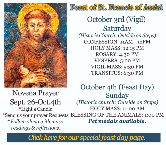 Feast of St. Francis of Assisi October 4, 2020
